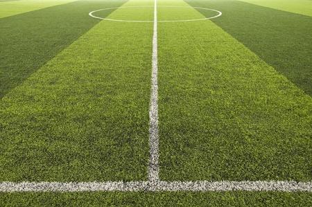 Groene kleur Voetbalveld