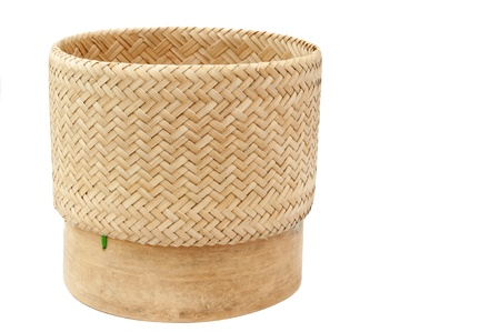 rice wicker in white isolate background photo