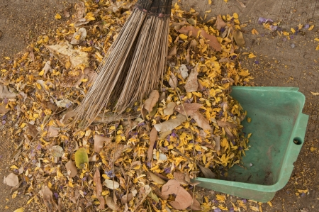 Sweep garbage Stock Photo - 19506673