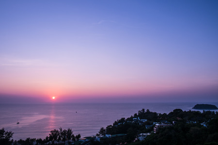 Sunset in Phuket photo