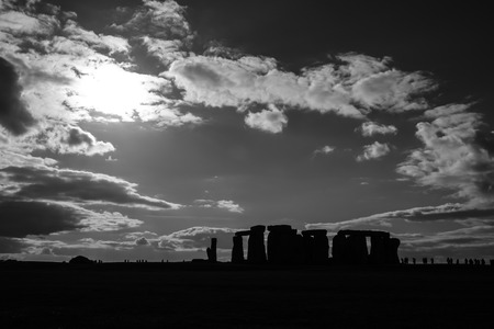 Stonehenge stand in the shadow photo