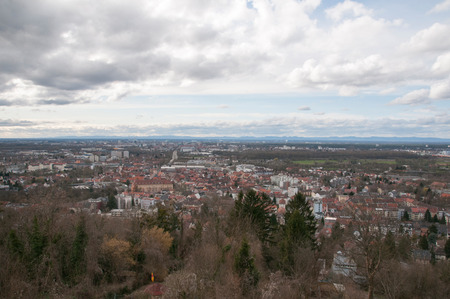 karlsruhe: View from the Turmberg in Karlsruhe Durlach Stock Photo