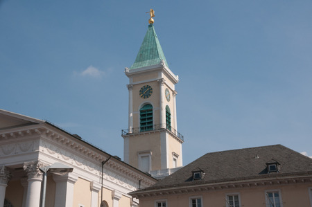 karlsruhe: City Church in the City of Karlsruhe Stock Photo
