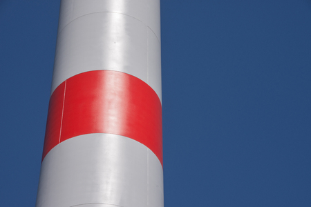 Detail of a windmill with red marker Archivio Fotografico - 101580670