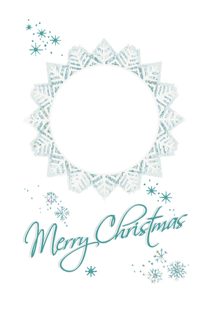 retro Merry Christmas & Happy New Year greeting card Vector