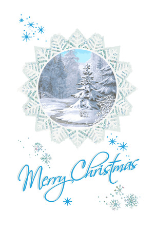 Merry Christmas & Happy New Year greeting card Vector.