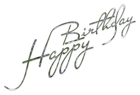 printmaking: Happy Birthday Lettering Vector Graphics