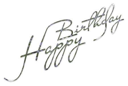 Happy Birthday Lettering Vector Graphics