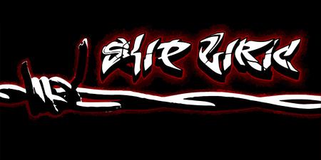 Graffiti Skip Liric lettering Vector