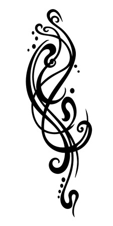 printmaking: Pattern tattoo Body art Vector