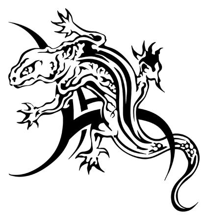logo vector: Lizard tattoo vector great idea for shoulder area