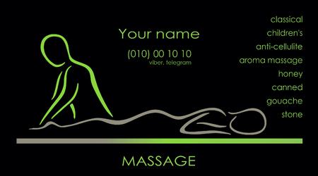 massage maket business card vector