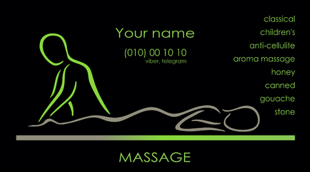 massage maket business card vector