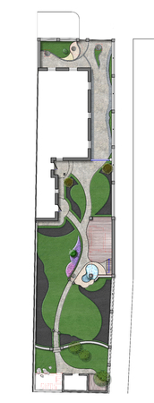 Fully illustrated site development plan. Complete garden landscaping.