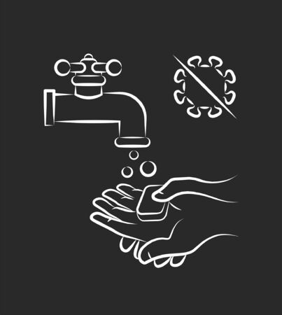 Sanitary protection infographics icon, vector graphic
