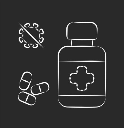 Antiviral medication pharmacy icon, vector illustration 向量圖像