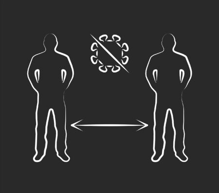 Social distance icon. Epidemic, pandemic, icons, infographics vector