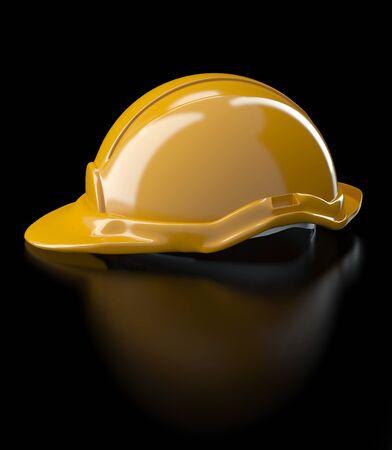 Helmet illustration under construction area sign