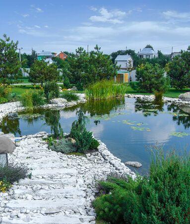 garden path, garden water Stock fotó