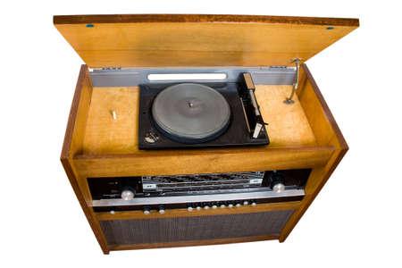old vinyl player photo