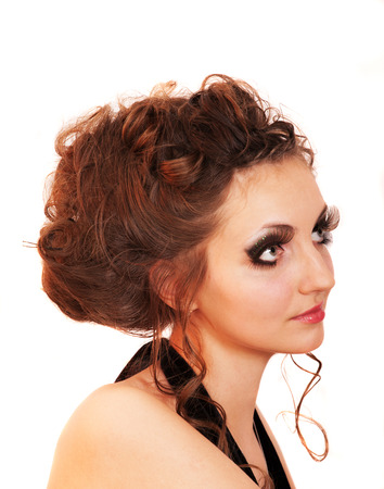 fascinating: girl with fascinating make-up Stock Photo