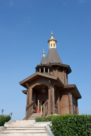 small wooden church Stock Photo