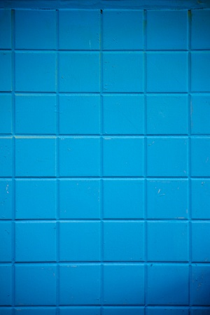 Blue Painted Brick Wall Background photo
