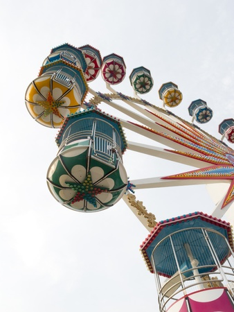 themes: A section of a brightly colored Ferris wheel