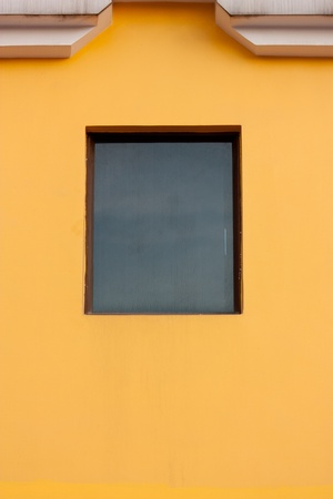 orange wall and window, at shenzhen, china