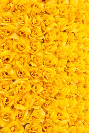 beautiful yellow artificial rose background Stock Photo