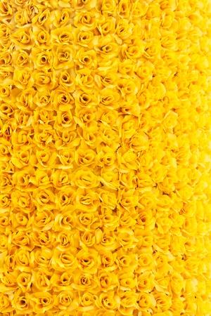 beautiful yellow artificial rose background Stock Photo