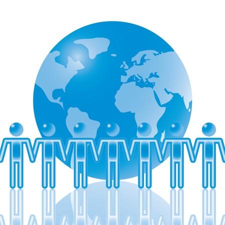global problem: 16. Global Team en azul. Eps8. Capas y grupos aislados. Ver esto en rasterizar en mi cartera.  Vectores