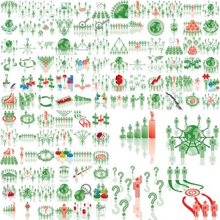 target thinking: M�s de 100 ilustraciones de negocio  Vectores