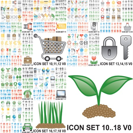 Over 150 icons Illustration