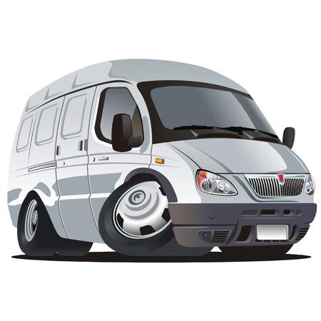 Vector cartoon delivery  cargo truck Illustration