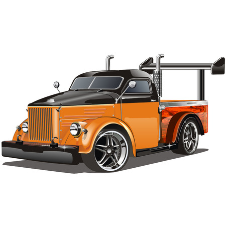 Vector illustration  Hot Rod isolated on white background