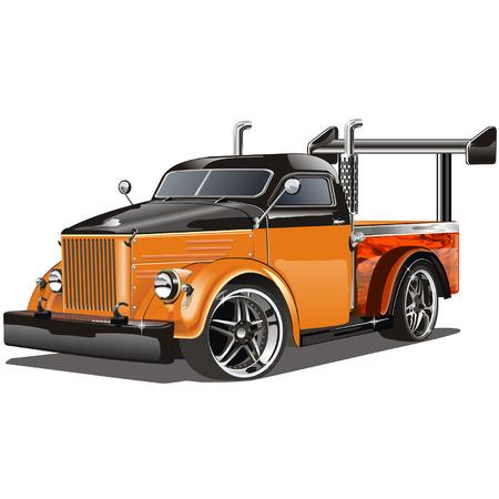 hot wheels: Vector illustration  Hot Rod isolated on white background