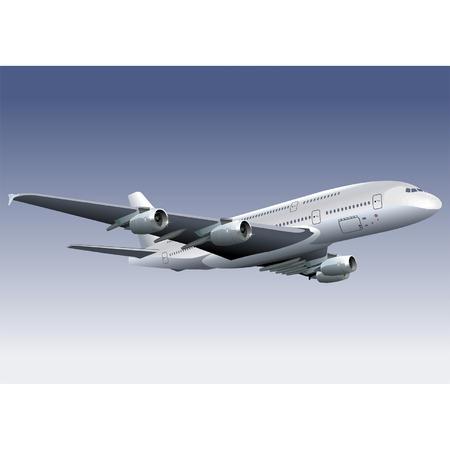 Vector double-deck A380 Lagest Jetliner Stock Vector - 3947745