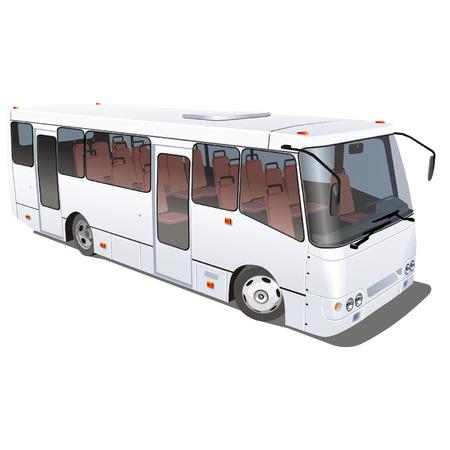 motor de carro: Los vectores de zonas urbanas y suburbanas mini-bus aislado