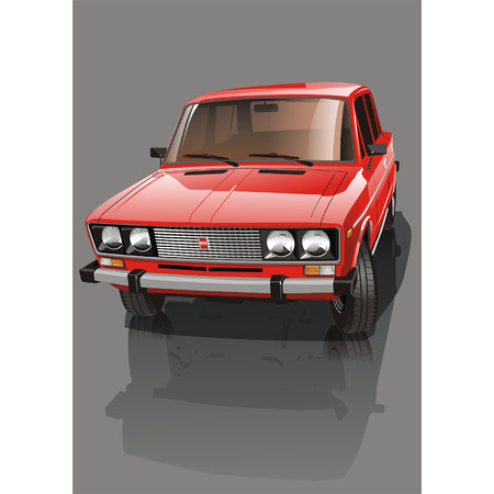 Vector illustration shiny red car Vector