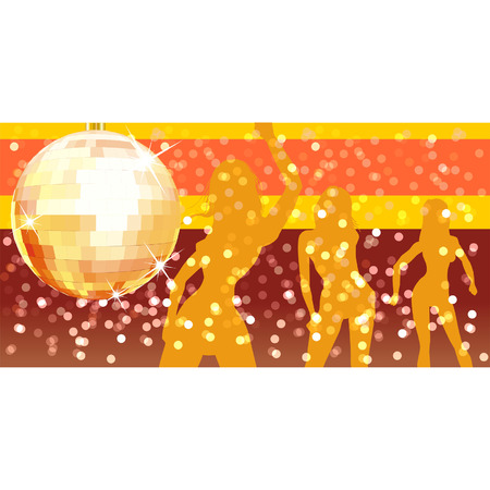 Vector disco ball on abstract background Stock Vector - 3960508