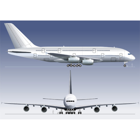 commercial airline: Vector double-deck Lagest Jetliner A380