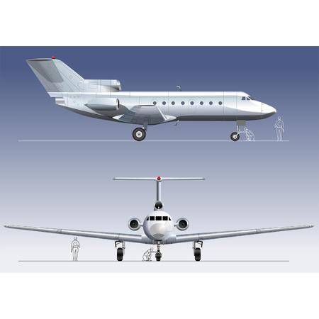 aviations: Hi-detailed vector illustration passenger business-jet Yak-40.
