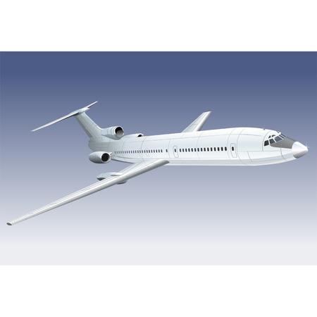 jetliner: Vector passenger jet Tupolev - 154