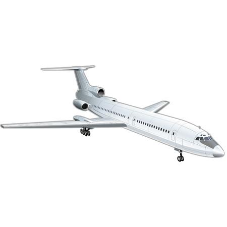 """deslizamiento: Ilustraci�n vectorial avi�n de pasajeros """"TU - 154"""""""