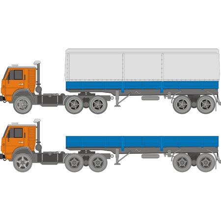 trailer: Vector heavy truck set 2