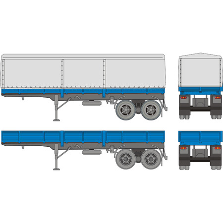 Vector heavy truck set 4