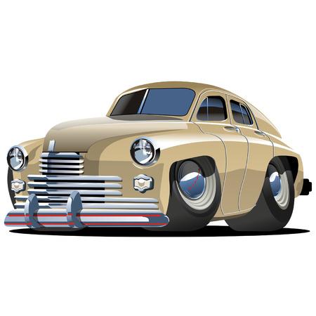 Vector cartoon retro car Pobeda Vector