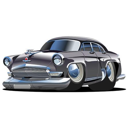 Vector cartoon retro car Volga Vector