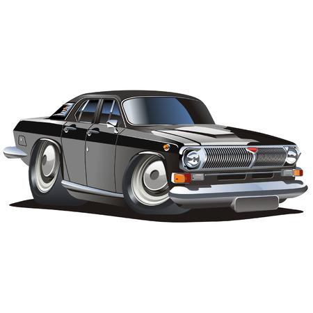 gaz: Vector cartoon classic car Illustration